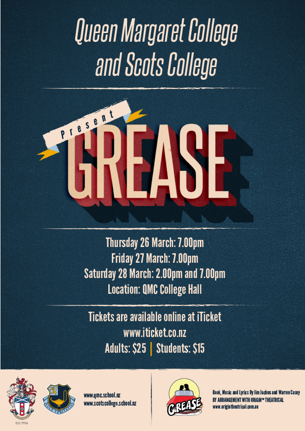 Queen Margaret College And Scots College Present Grease Scots College