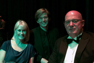 Matthew Strawbridge, Graeme and Maria Yule attending the New Zealander of the Year Awards