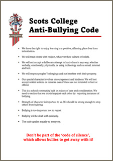 Scots College Anti-Bullying Code