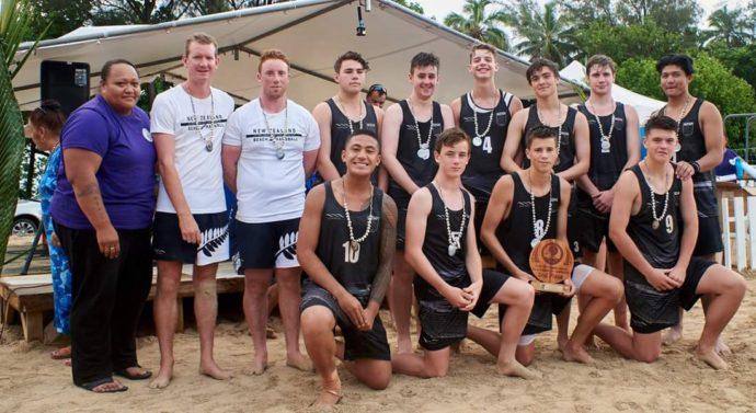 nz men s beach handball team scots college