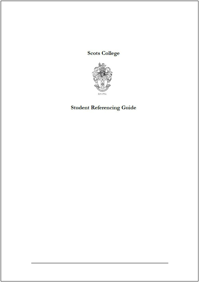 Scots_College_References_Guide