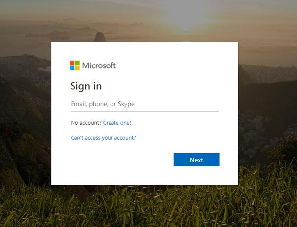 aka.ms reset password