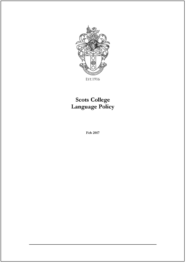 Scots_College_Languages_Policy